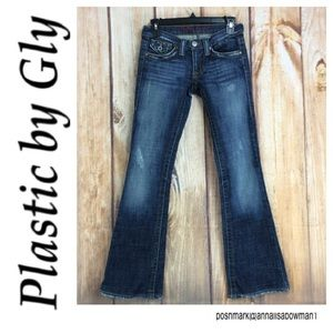 💸Plastic by Gly Bootcut denim jean size 1